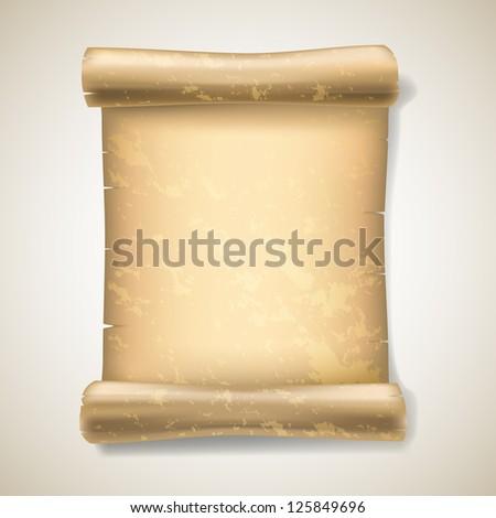 realistic ancient scrolls - stock vector