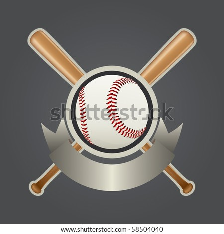 Realistic Baseball Design Element Vector Drawing