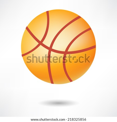Realistic basketball ball isolated on white background. Vector illustration. - stock vector