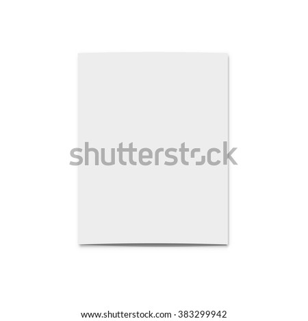 Realistic blank card for design . Template greeting card for design presentations . Holiday card . Isolated card . - stock vector