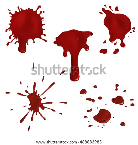 how to draw realistic blood