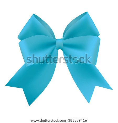 Realistic blue gift ribbon