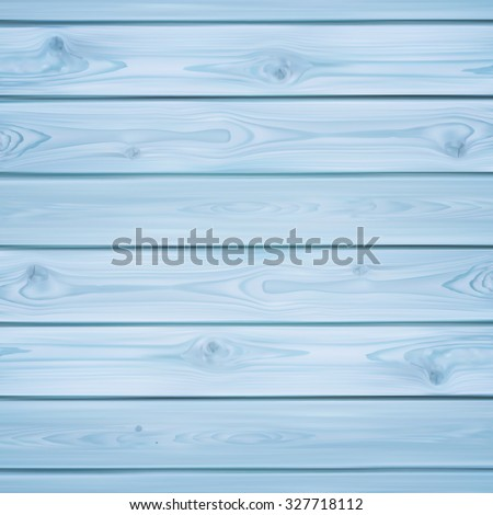 Realistic blue planks. Wood background. Vector illustration. - stock vector