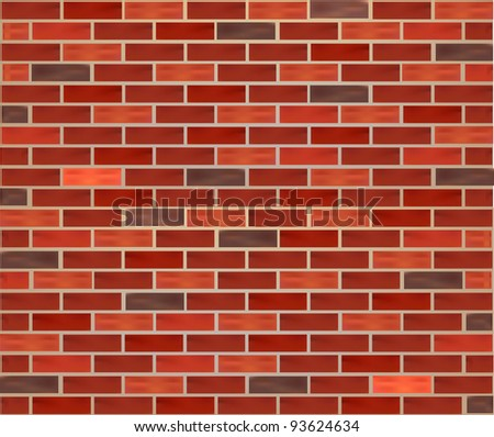 Realistic Brick Wall texture background mesh eps 10 - stock vector