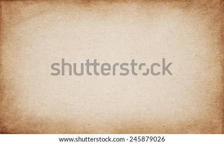 Realistic brown cardboard stained texture. vector illustration. - stock vector