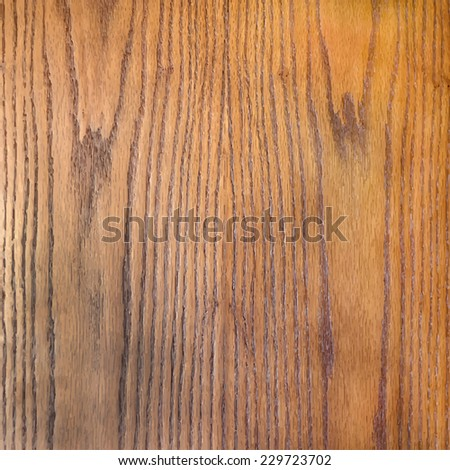 Realistic brown striped wood texture. Vector background for your design.