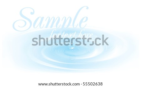 Realistic bubbles on water. Vector illustration. - stock vector