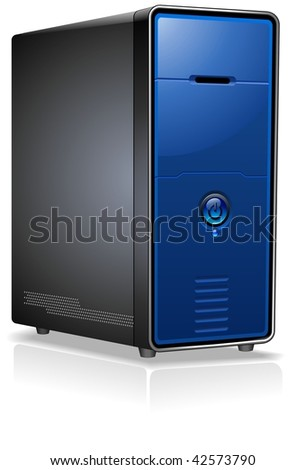 Realistic Case of Computer / Server / Workstation - stock vector