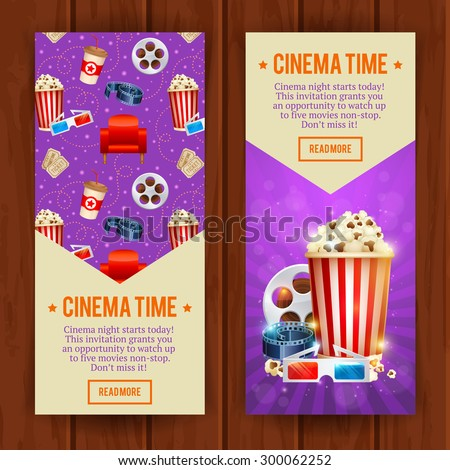 film brochure template - cinema posters collection different movie film stock