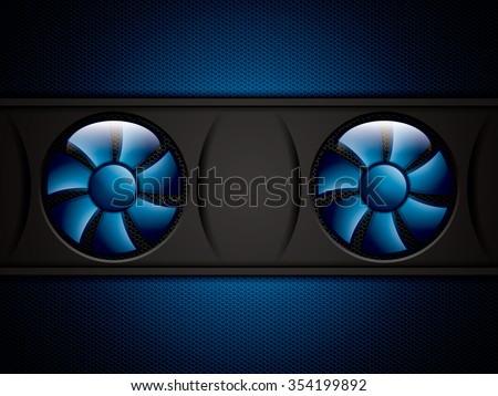 Realistic computer coolers.Vector - stock vector