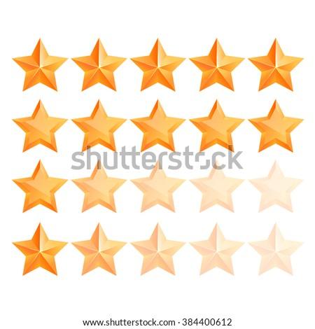 Realistic 3D gold star Set. Award winner. Good job. The best reward. bulk copper star. Simple star on a white background. The award for the best choice. Premium class. Vector illustration - stock vector