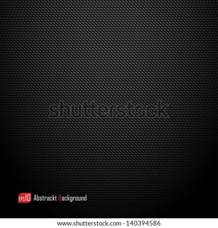 Realistic dark carbon background, texture. Vector illustration - stock vector