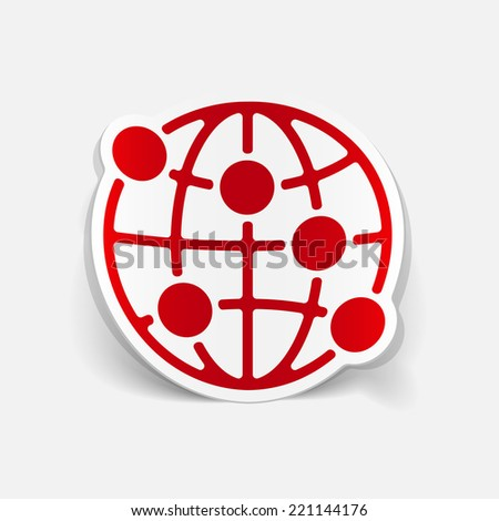 realistic design element: globe - stock vector