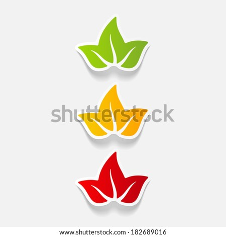 realistic design element: leaf - stock vector