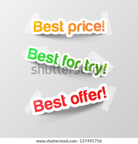 Realistic design elements stickers - stock vector
