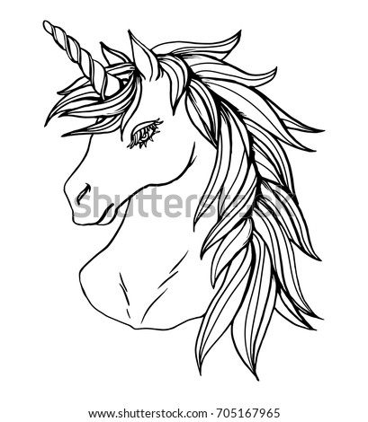 how to draw a realistic unicorn head