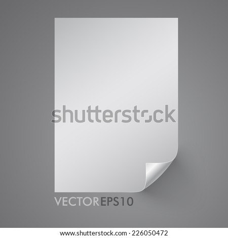 Realistic empty page paper 3D. Vector illustration EPS10 - stock vector