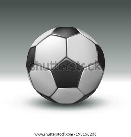 Realistic football ball. Vector illustration - stock vector