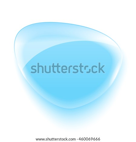 Realistic glass banner for web interface.