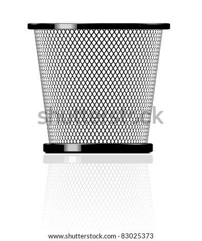Realistic glossy trash icon illustration - stock vector