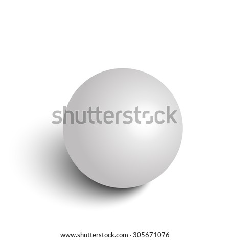 Realistic grey sphere. Vector illustration