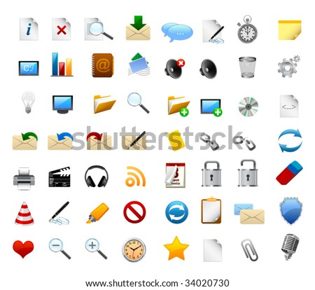 Realistic icons
