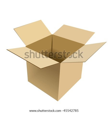 Realistic illustration of box - vector - stock vector