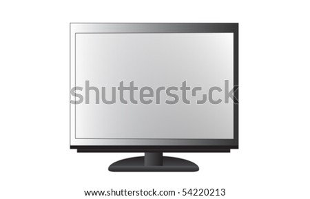 Realistic illustration of display isolated over white - stock vector