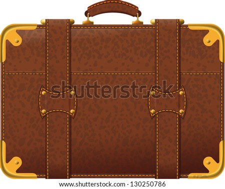 Old Leather Suitcase Stock Images, Royalty-Free Images & Vectors ...