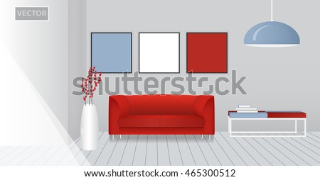 Bedroom illustration elevation room red bed stock vector 450623845 realistic interior of a modern living room design template mock up vector pronofoot35fo Image collections