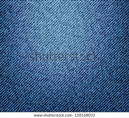 Realistic jeans texture - stock vector
