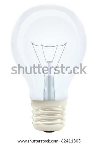 Realistic light bulb in vector