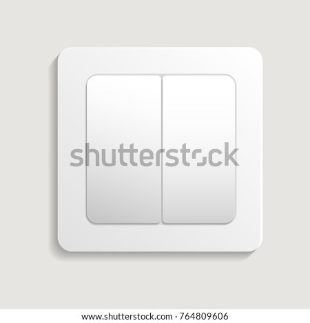 Realistic Light Switch Icon Electrictric Equipment For House Interior Wall Installation Isolated Vector Illustration