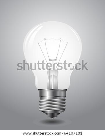 realistic lightbulb - stock vector