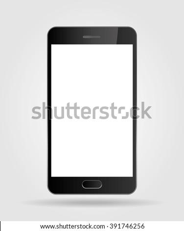 Realistic mobile phone smartphone - stock vector