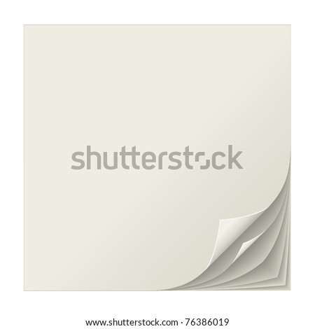 Realistic multiple curled page corners vector illustration. - stock vector