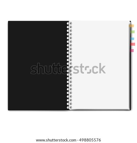 realistic notebook, exercise book , vector illustration