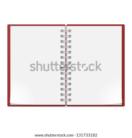 Realistic notebook . Illustration on white background for creative design. - stock vector