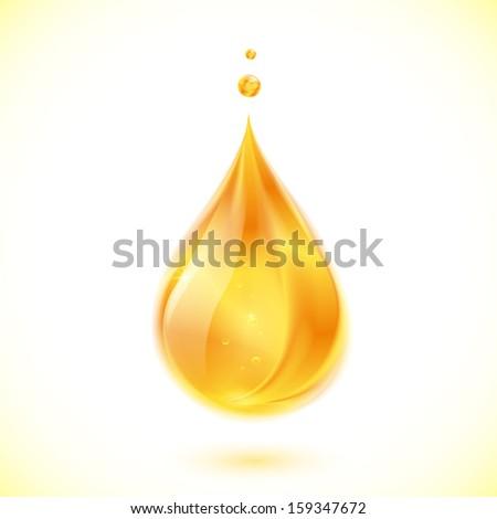 Realistic oil or honey vector drop - stock vector