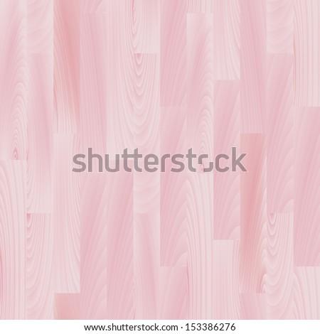 Realistic pastel pink wooden floor seamless pattern, vector - stock vector