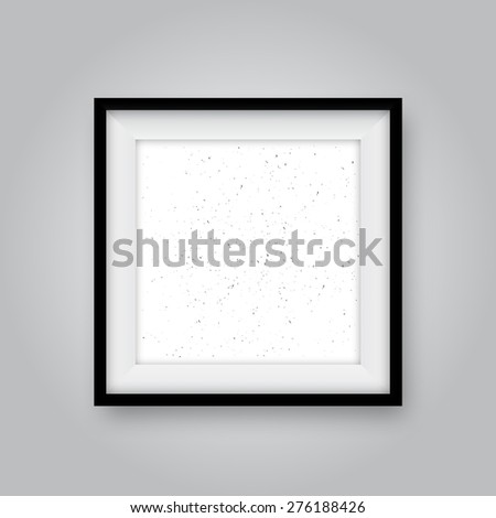Realistic photo frame with texture. Vector illustration - stock vector