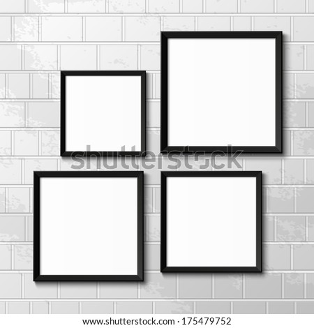 Realistic picture frames. Perfect for your presentations. Vector illustration