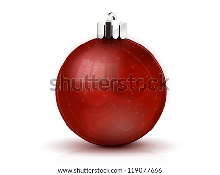 realistic red fir-tree sphere - stock vector