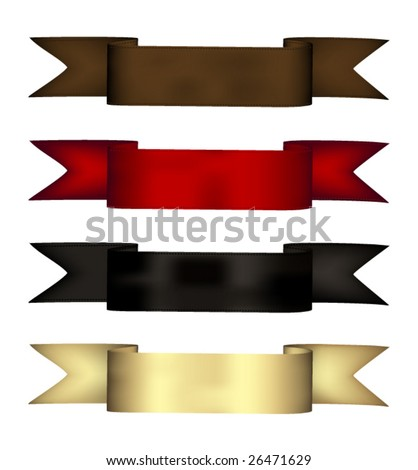 Realistic satin ribbons vector - stock vector