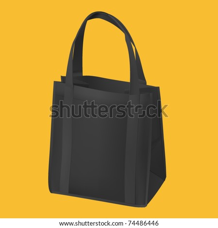 realistic shopping bag vector - stock vector
