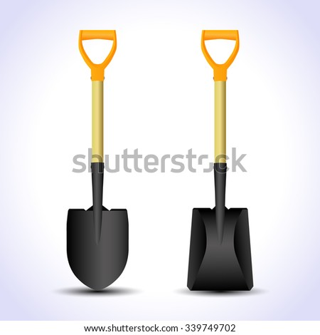 Realistic shovel isolated. Vector illustration