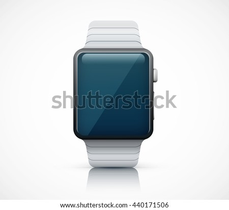 Realistic smart watch on white background eps10 vector illustration