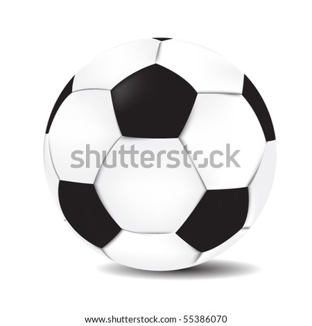Realistic soccer ball. Isolated football vector.