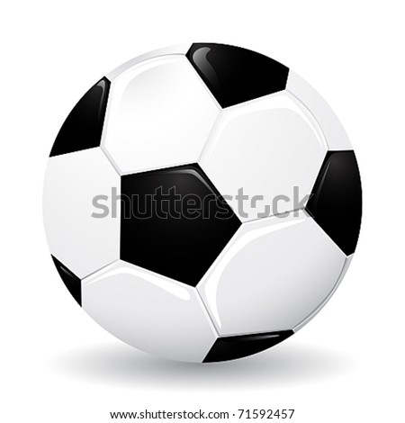 Realistic soccer ball, vector illustration - gradients only - stock vector