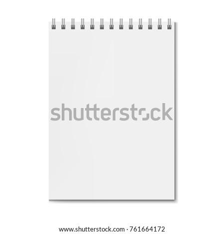 realistic square spiral notebook mockup sketchbookのベクター画像素材